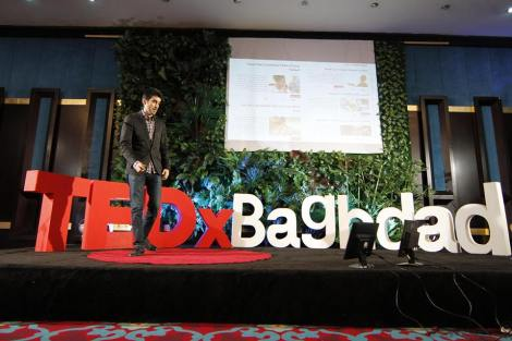 Presentation of  Amedia Watch at TEDx Bagdad